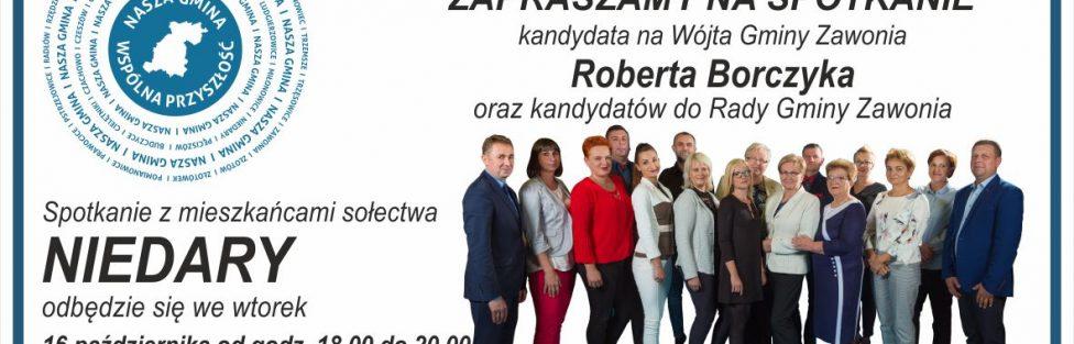 Zaproszenie na spotkanie wyborcze: wtorek 16 X 2018 r.